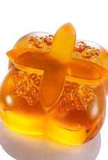 "LIULI Crystal Art Crystal Persimmon Kitchen Decor Paperweight ""Fortune Four Ways"""