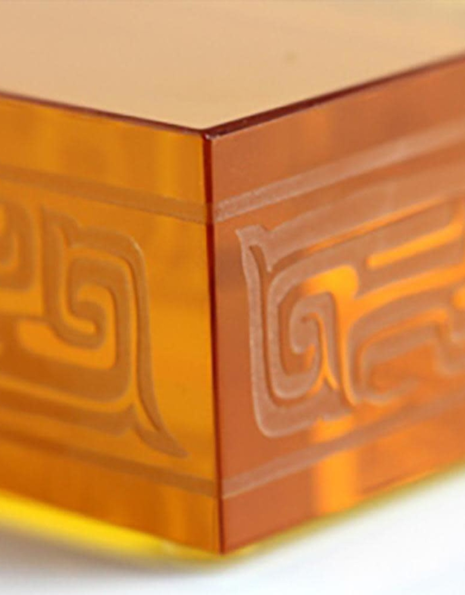 "LIULI Crystal Art Crystal Elephant in Light Amber ""Step by Promising Step"" (Limited Edition)"