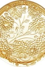 LIULI Crystal Art Crystal Chrysanthemum, Lunar Jewelry Box in Amber