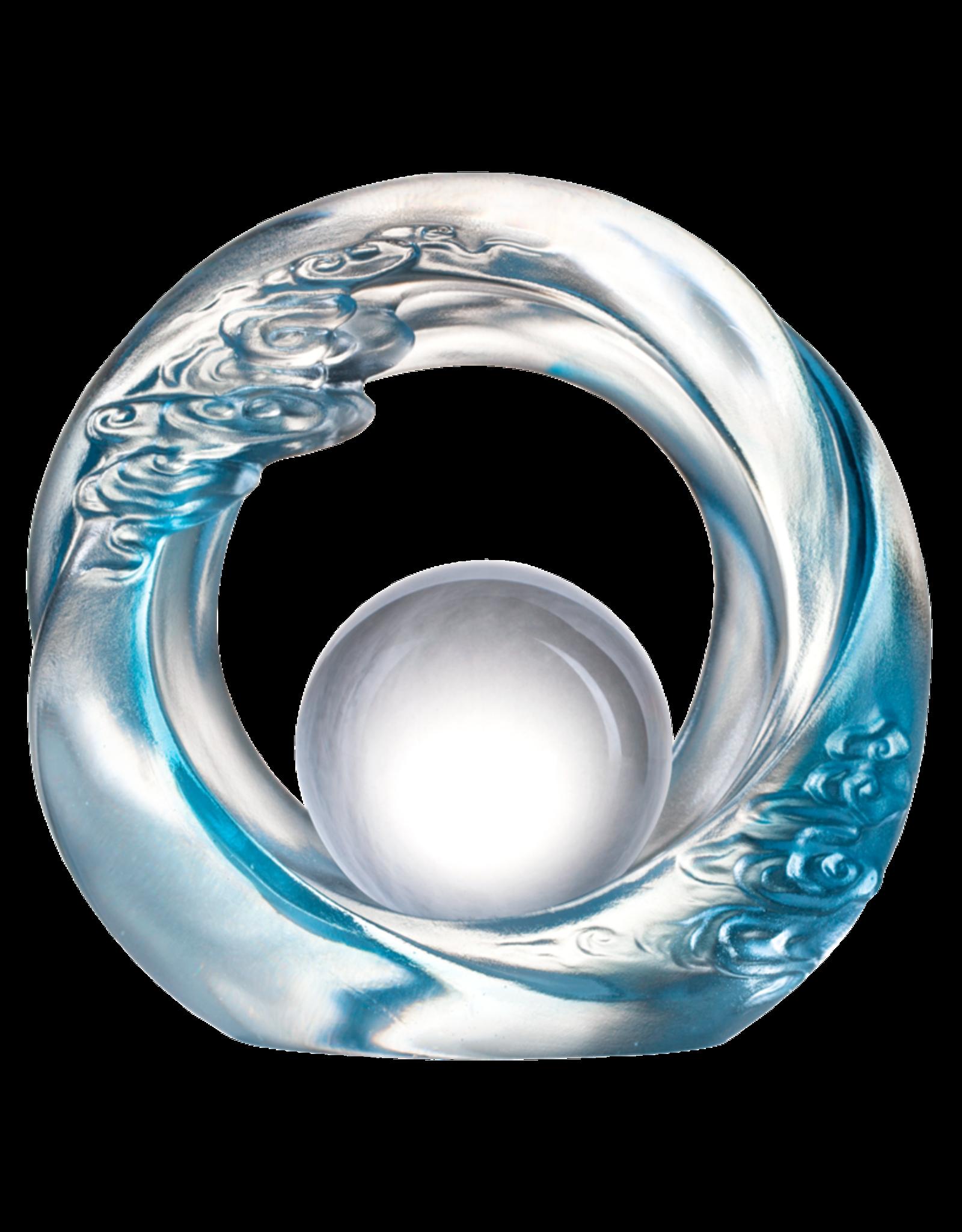 LIULI Crystal Art Crystal Abstract Cloud Feng Shui Desk Sculpture