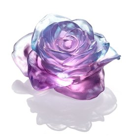 LIULI Crystal Art Crystal Rose in Royal Purple Clear