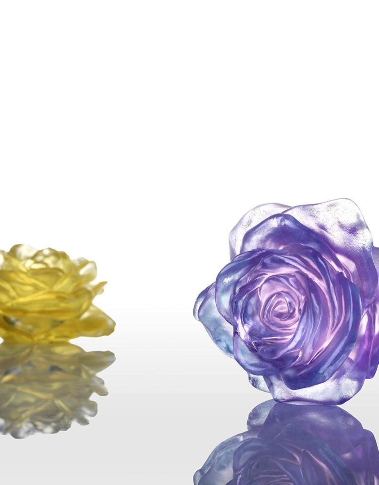 LIULI Crystal Art Crystal Rose in Royal Purple Clear