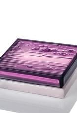 "LIULI Crystal Art Crystal Incense Case & ""A Happy Excursion - Clarity"" Incense Set in Purple"