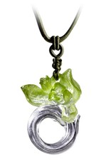 """LIULI Crystal Art Crystal """"Imminent Spring Dance"""" Orchid Pendant Necklace (Limited Edition)"""