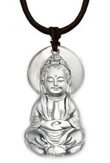 "LIULI Crystal Art Crystal ""Omnipresent Serenity"" Guanyin Pendant Necklace (Limited Edition)"
