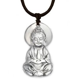 LIULI Crystal Art Crystal Guanyin Pendant Necklace