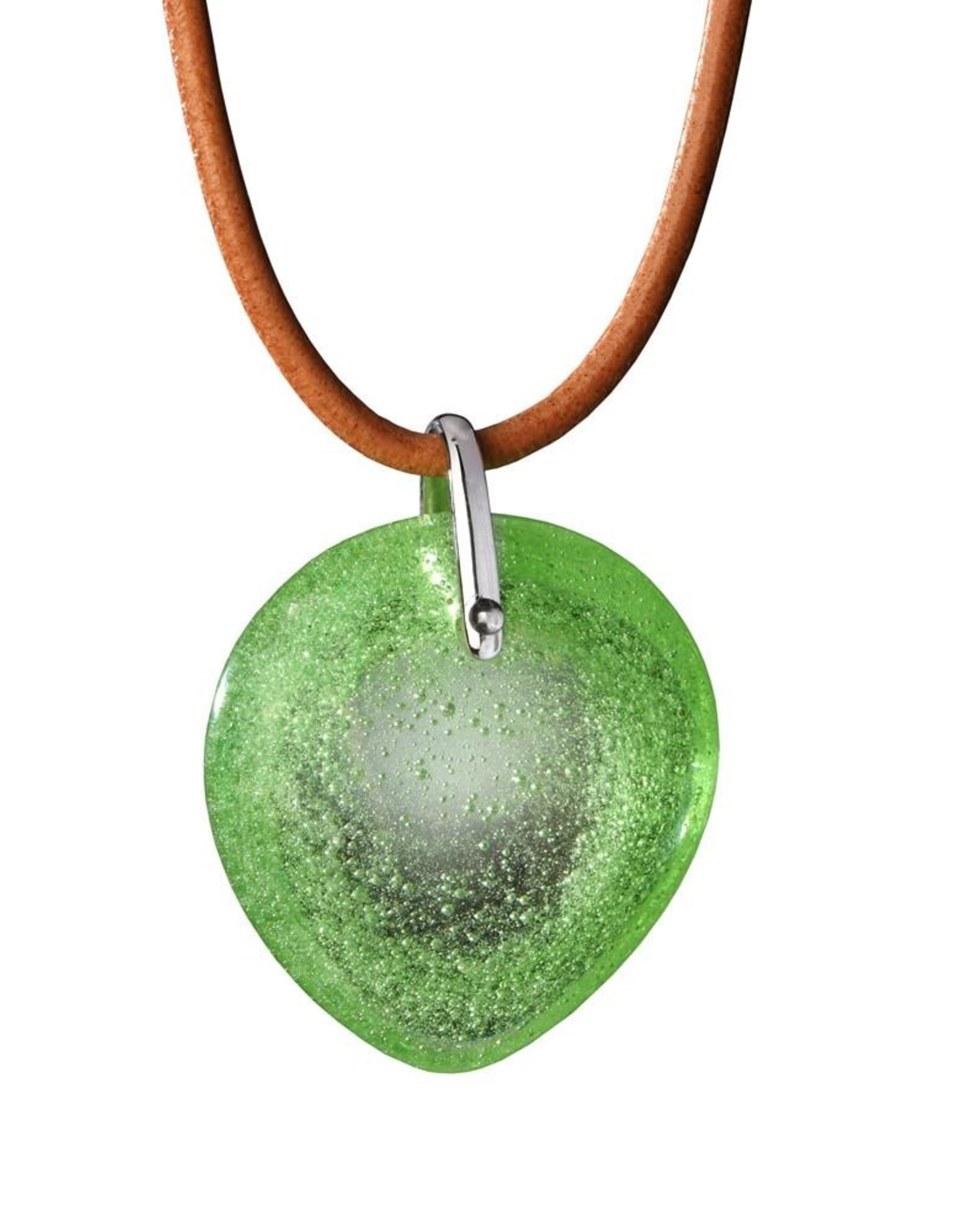 "LIULI Crystal Art Crystal ""True Love Everlasting"" Pendant Necklace in Spring Green"