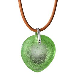 "LIULI Crystal Art Crystal ""True Love Everlasting"" Pendant Necklace in Spring Green"