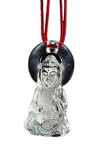 "LIULI Crystal Art Crystal ""Merciful Illumination"" Buddha Pendant Necklace (Limited Edition)"