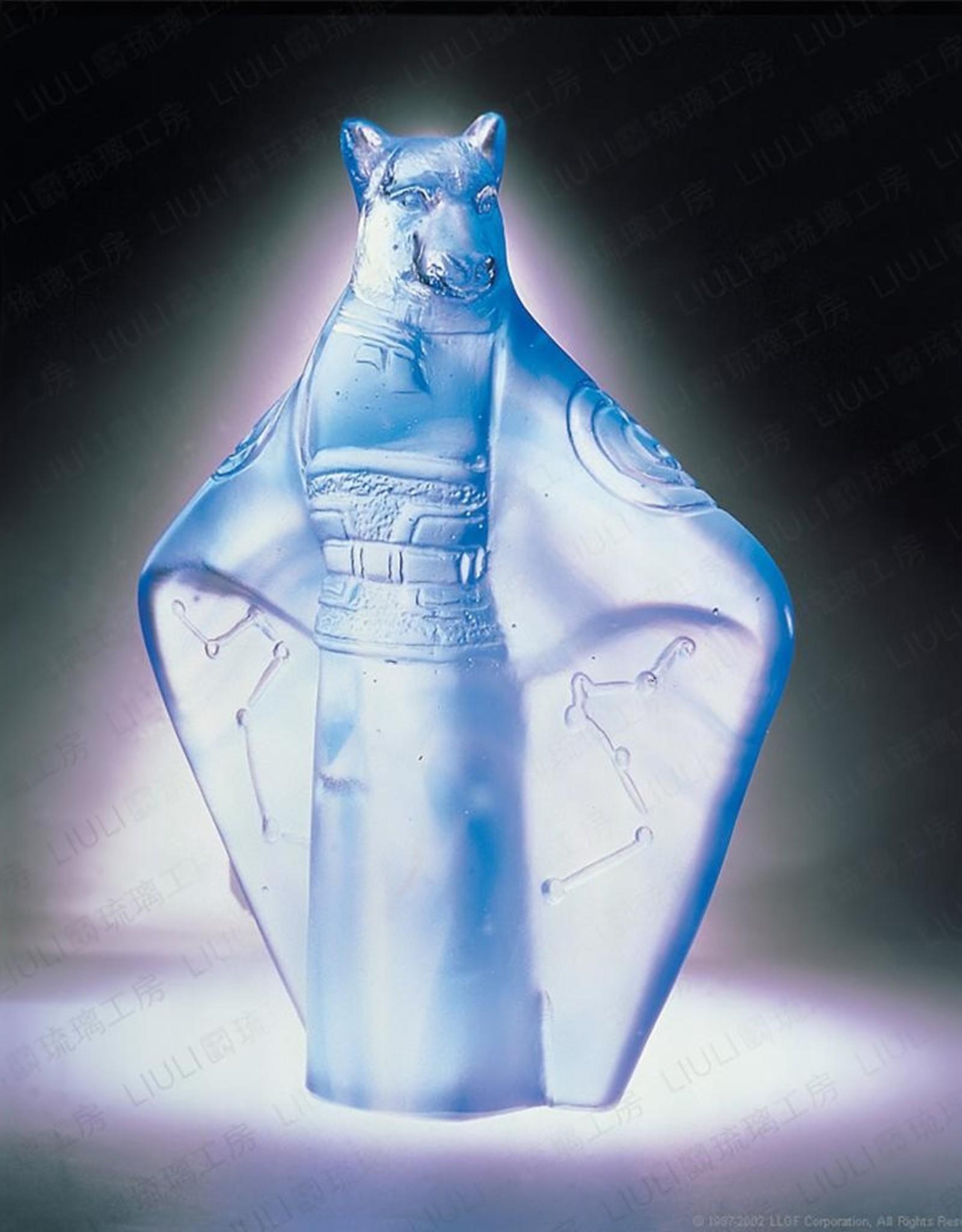 LIULI Crystal Art Crystal Zodiac Dog Figurine, Year of the Dog (Limited Edition)
