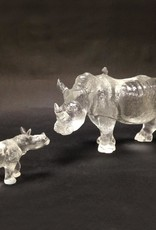 "LIULI Crystal Art Crystal Baby Rhinoceros ""Don't Scold Me"" Figurine"