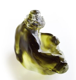 "LIULI Crystal Art Crystal ""A Wide Embrace"" Buddha Figurine"