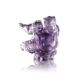 "LIULI Crystal Art Crystal ""Great Joy-Effortlessness"" Matreiya, Happy Buddha Figurine"