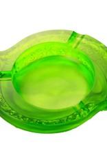 LIULI Crystal Art Crystal Smoke Plume Dance Ashtray in Clear Green