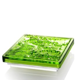 "LIULI Crystal Art Crystal Incense Set ""A Happy Excursion - Anonymous"" in Green"