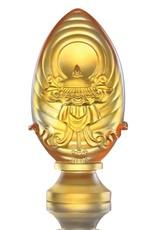 LIULI Crystal Art Crystal Feng Shui Precious Umbrella-Auspicious Peace, Eight Auspicious Offerings, Light Amber (Limited Edition)