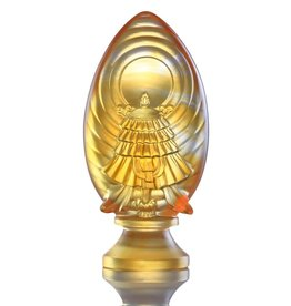 LIULI Crystal Art Crystal Feng Shui Victory Banner-Auspices Far and Wide, Light Amber (Limited Edition)