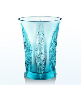 "LIULI Crystal Art Crystal Floral Vase ""Lovely Bamboo Shadows"""