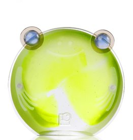 LIULI Crystal Art Crystal Chubby Frog Magnetic Photo Holder