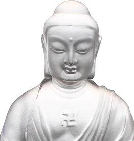 LIULI Crystal Art Crystal Medicine Buddha, The Guardian of Peace, Powder White