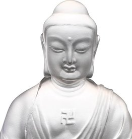 LIULI Crystal Art Crystal Amitabha Buddha, Guardians of Peace, Powder White