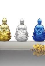 "LIULI Crystal Art Crystal ""Present Mindfulness"" Amitabha Buddha, Guardians of Peace, Powder White"