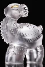 LIULI Crystal Art Crystal Decal Little Sheep Figurine, 24K Gold Leaf (Limited Edition)