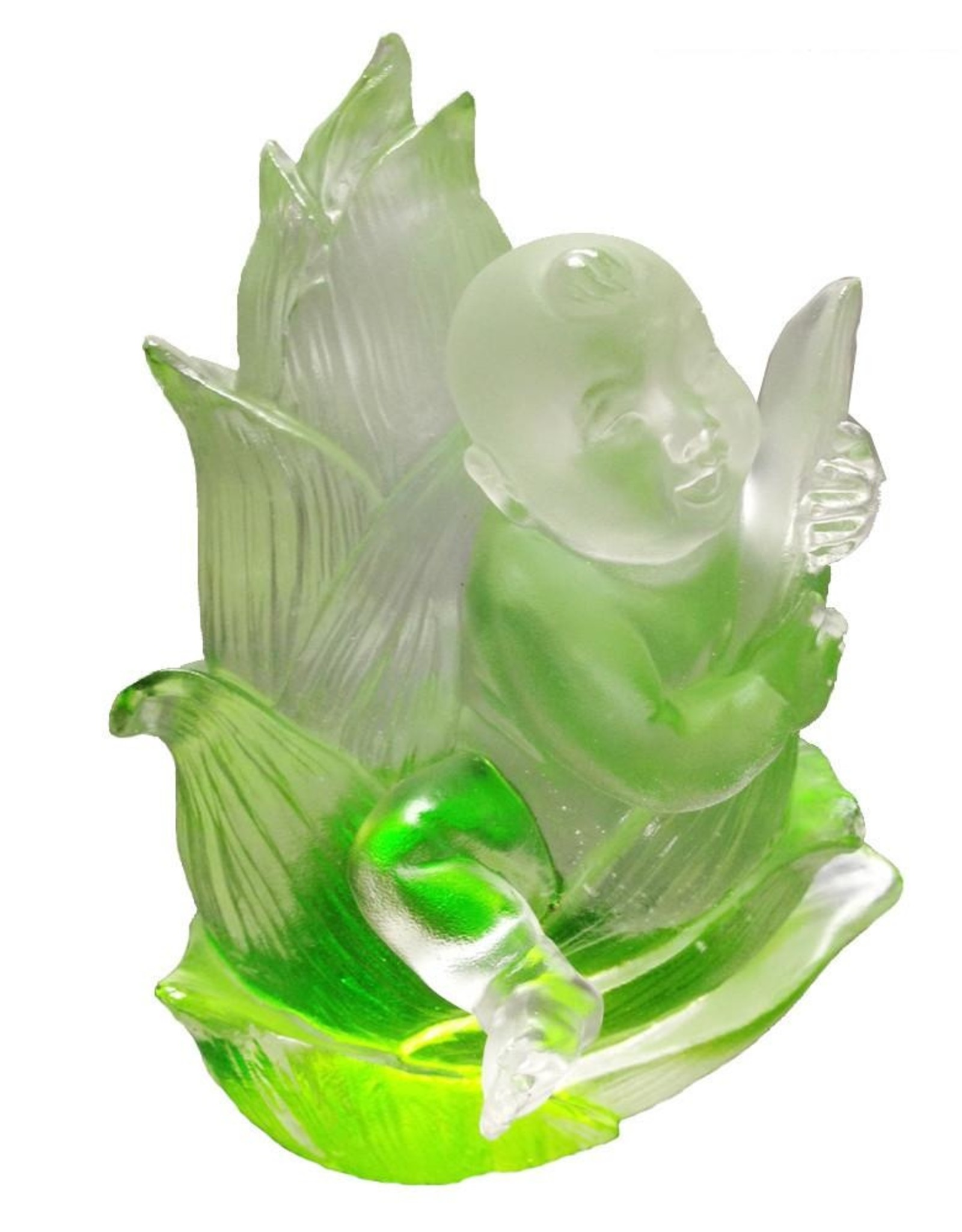"LIULI Crystal Art Crystal Doll Figurine (Fearless), ""Great Heights Dolly"" in Green Clear (Limited Edition)"