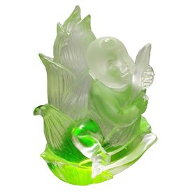LIULI Crystal Art Crystal Great Heights Dolly Figurine (Fearless), Green Clear (Limited Edition)