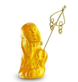 "LIULI Crystal Art Crystal Buddha, ""I Am Not Afraid"" Ksitigarbha Bodhisattva, Amber"