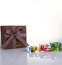 LIULI Crystal Art Crystal Tealight Candleholder Deluxe Gift Set
