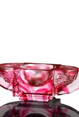 """LIULI Crystal Art Crystal Sake Glass """"The Virtuous Plum Blossom"""" in Royal Purple Clear (Limited Edition)"""