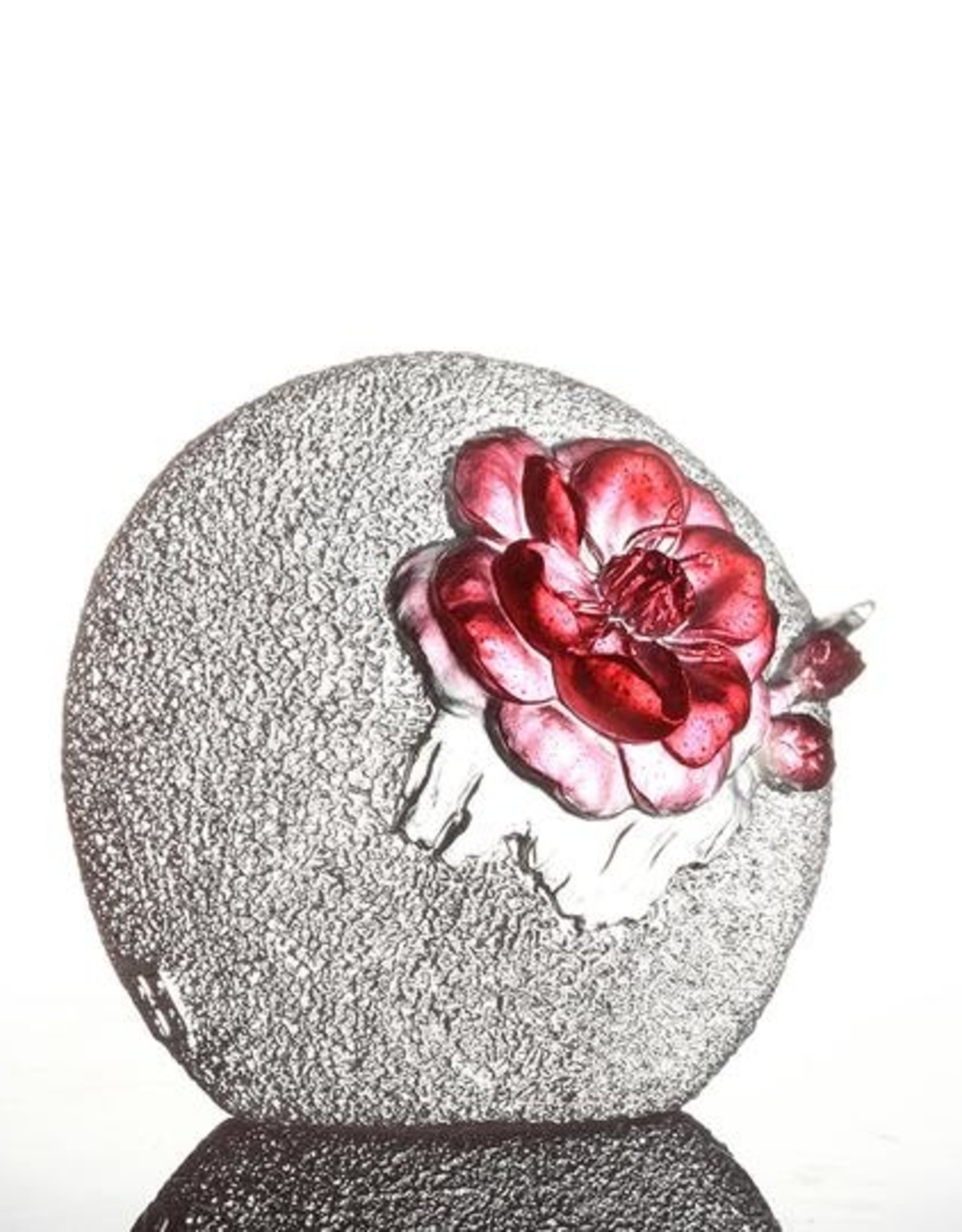 LIULI Crystal Art Crystal Plum Blossom, Burst of Spring, Gold Red Clear (Limited Edition)