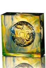 LIULI Crystal Art Crystal Goldfish Paperweight, Prosperity Abound, Mixed Colors
