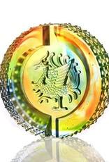 LIULI Crystal Art Crystal Mythical Phoenix, Splendor of the Vermillion Bird, Guardian of the South (Limited Edition)
