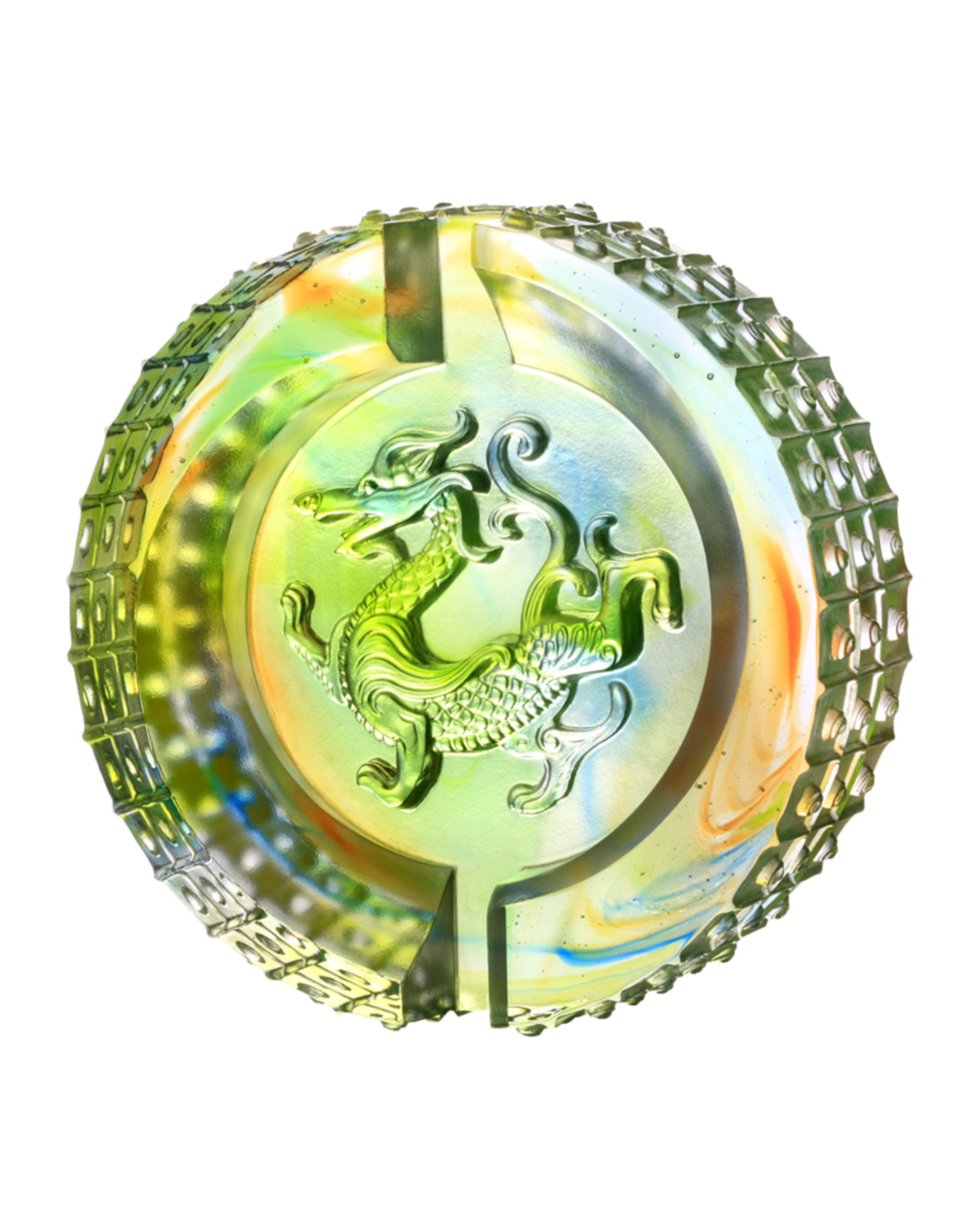 LIULI Crystal Art Crystal Mythical Dragon, Luminosity of the Azure Dragon, Guardian of the East (Limited Edition)