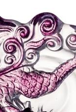 "LIULI Crystal Art Crystal Mythical Qilin ""Sun Dance"" in Violet/Red Clear"