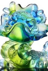 "LIULI Crystal Art Crystal Year of the Dragon Chinese Zodiac Figurine ""So Spirited"" in Bluish/Green (Limited Edition)"