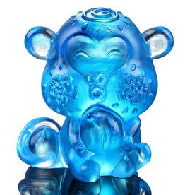 "LIULI Crystal Art Crystal Year of the Monkey ""Little Saint"" Figurine, Sky Blue (Limited Edition)"