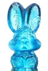 LIULI Crystal Art Crystal Zodiac Bunny, Year of the Rabbit, Darling, Sky Blue