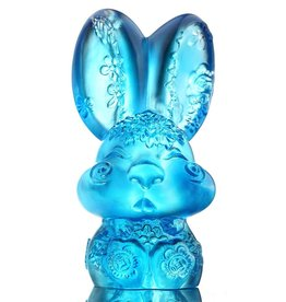 LIULI Crystal Art Crystal Zodiac Bunny, Year of the Rabbit, Darling, Sky Blue