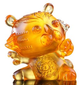 "LIULI Crystal Art Crystal Year of the Tiger ""Little Valiant One"" Figurine, Light Amber (Limited Edition)"
