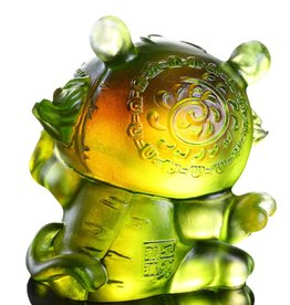 "LIULI Crystal Art Crystal Year of the Tiger ""Little Valiant One"" Figurine, Amber/Green Clear (Limited Edition)"