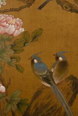 """Lawrence & Scott Large Japanese-Style Custom """"Sakura Garden"""" 8-Panel Screen"""
