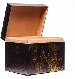 "Lawrence & Scott Mahogany Meridian Leather Box (18.5"")"