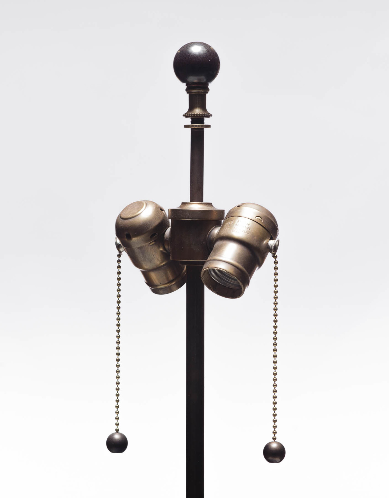 Lawrence & Scott Dashiell Table Lamp in Steel Blue with Wood Base