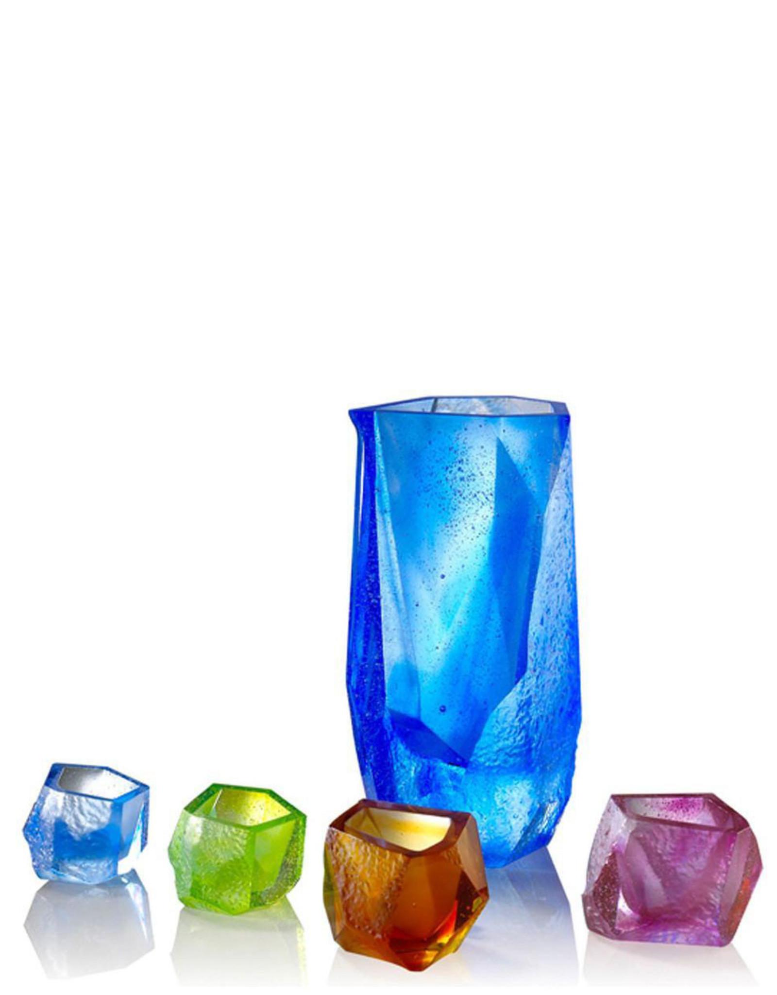 "LIULI Crystal Art Crystal Sake Glass and Jar ""Our Secret"" Set of 5"