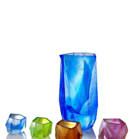 "LIULI Crystal Art Crystal Sake Glass and Jar ""Our Secret"" Set of 5"