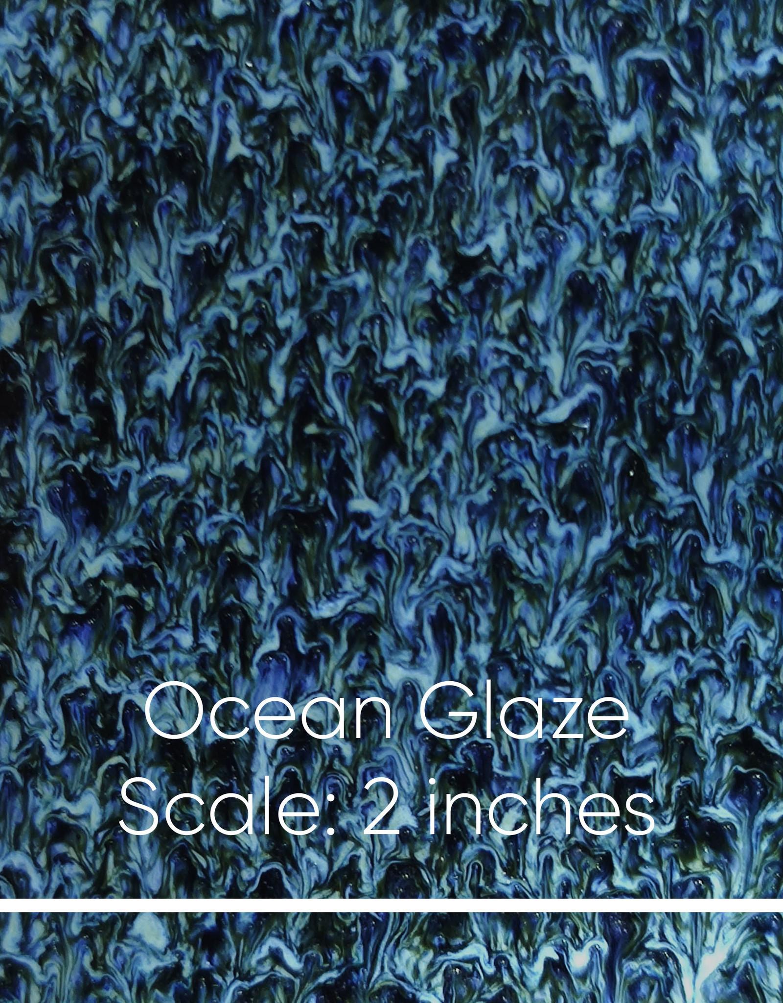 Lawrence & Scott Sybil Porcelain Table Lamp in Ocean Glaze