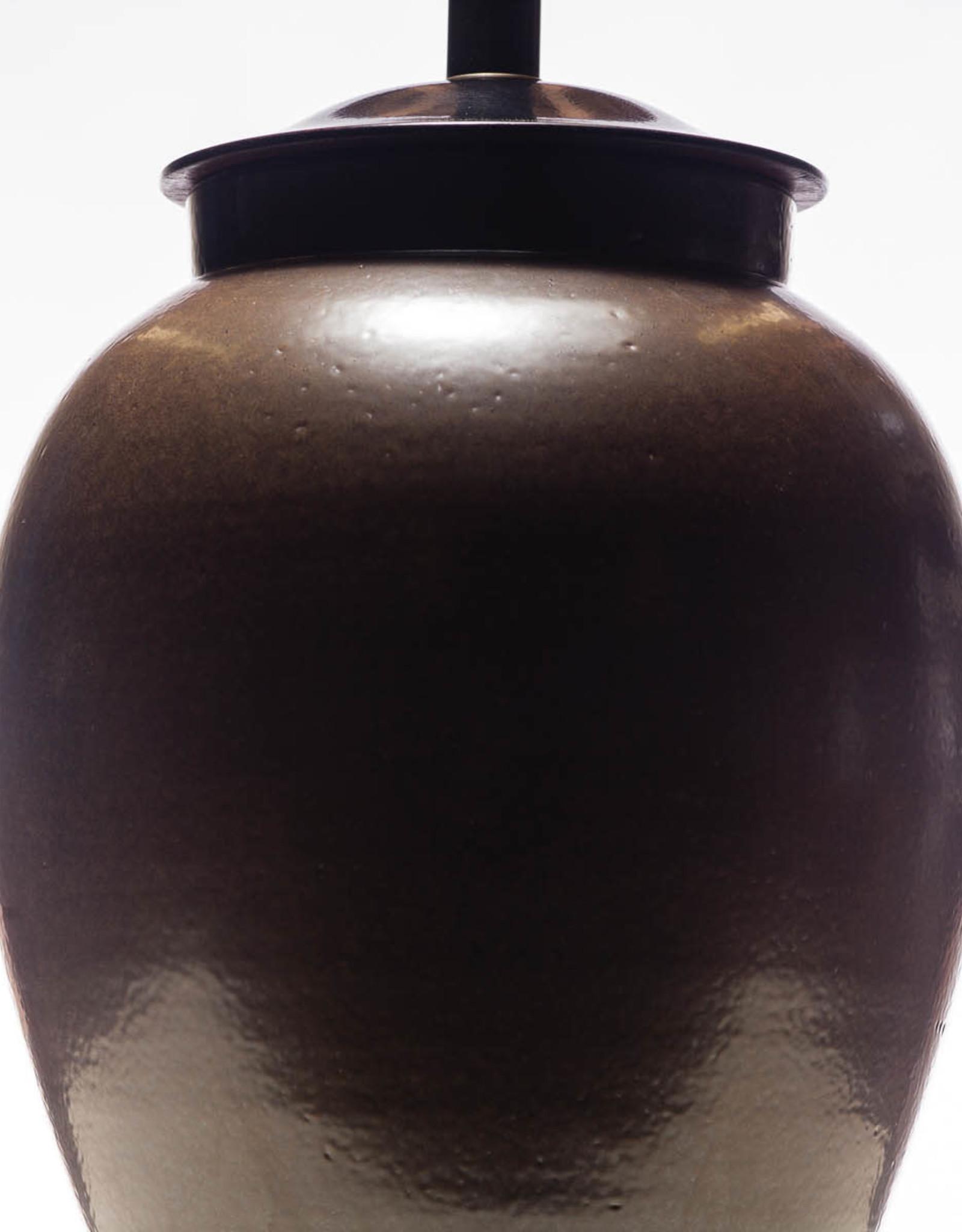 Lawrence & Scott Legacy Sybil Porcelain Latte Lamp, Brown Glaze